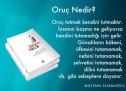 Oruç nedir? / What is fasting in Islam? / روزا نېمىنى كۆرسىتىدۇ؟